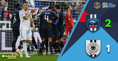 Germany face relegation after a 2-1 defeat to France
