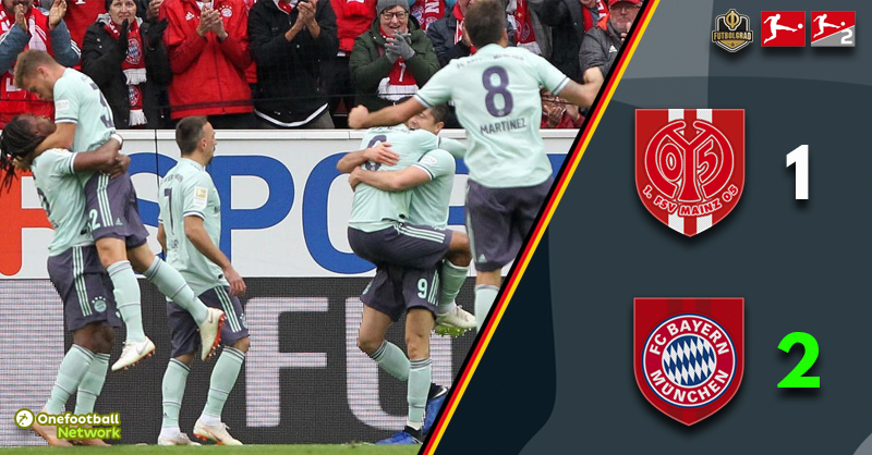 Mainz finally score but it was not enough to beat mighty Bayern