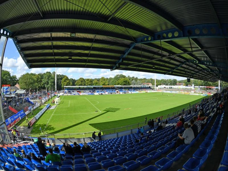 Meppen vs 1860 Munich will take place at the Hänsch-Arena in Meppen (Photo by Thomas Starke/Bongarts/Getty Images)