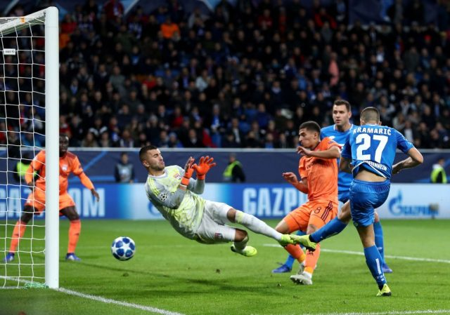 Hoffenheim vs Lyon - Andrej Kramaric scores his side's equalising goal after 33 minutes