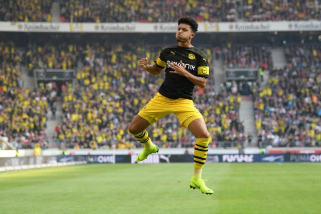 Jadon Sancho was on fine form again during VfB Stuttgart vs Borussia Dortmund