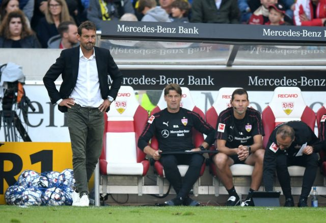 All the damage was done during the opening half an hour for Markus Weinzierl's Stuttgart.