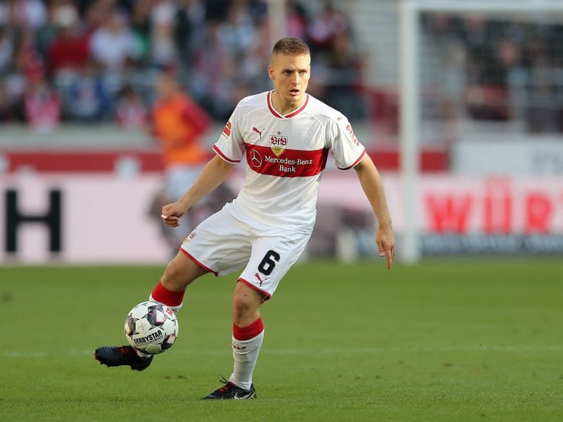 Santiago Ascacibar of Stuttgart in action during the Bundesliga match between VfB Stuttgart and SV Werder Bremen at Mercedes-Benz Arena on September 29, 2018 in Stuttgart, Germany. (Photo by Christian Kaspar-Bartke/Bongarts/Getty Images)
