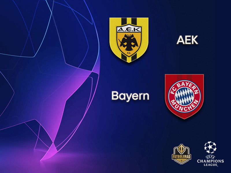 Champions League – AEK Athens host German giants Bayern München