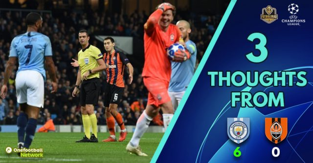 Manchester City vs Shakhtar Donetsk – Match Thoughts