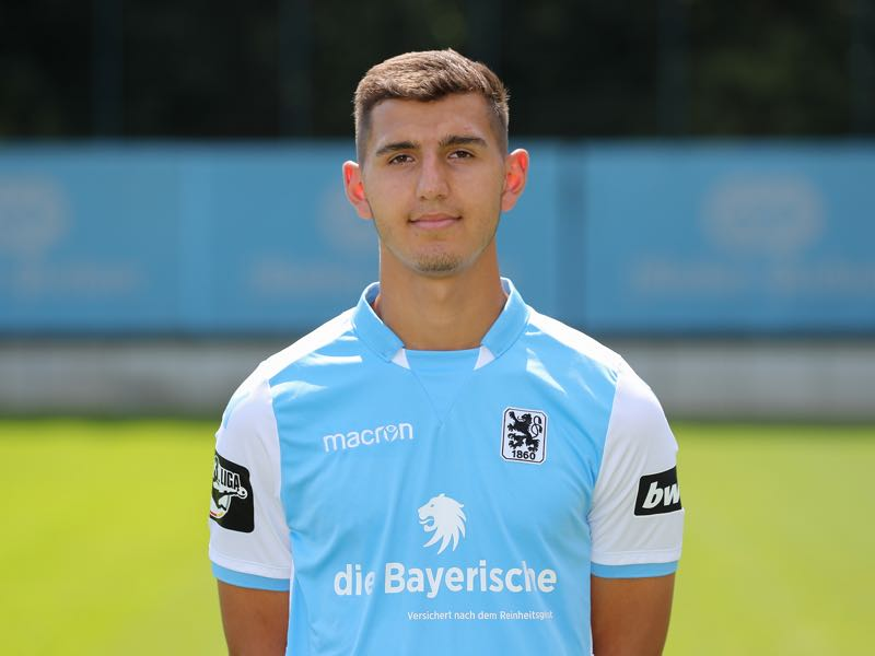 Semi Belkahia of TSV 1860 München poses during the team presentation on July 18, 2018 in Munich, Germany. (Photo by Christian Kaspar-Bartke/Bongarts/Getty Images)