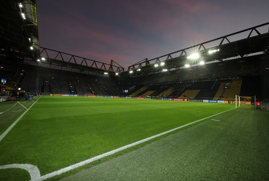 Dortmund vs Leverkusen will take place at the SIGNAL IDUNA Park in Dortmund (Photo by Christof Koepsel/Bongarts/Getty Images)