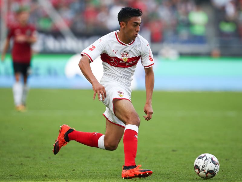 Nicolas Gonzalez of Stuttgart in action during the Bundesliga match between Hannover 96 and VfB Stuttgart at HDI-Arena on October 6, 2018 in Hanover, Germany. (Photo by Oliver Hardt/Bongarts/Getty Images)