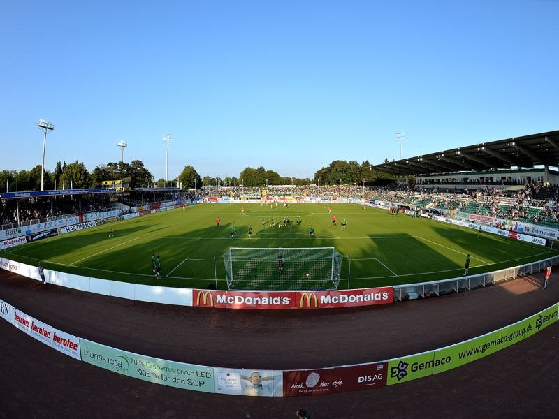 Preußen Münster vs 1860 Munich will take place at the Preußenstadion in Münster (Photo by Sascha Steinbach/Bongarts/Getty Images)