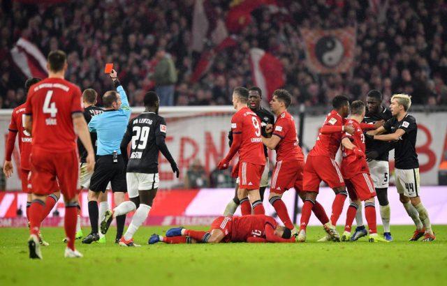 Sent off! Bayern vs RB Leipzig