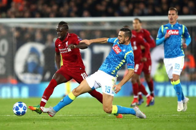 Sadio Mane - Liverpool vs Napoli