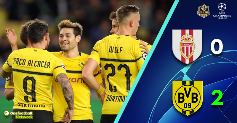 Dortmund get the job done against Monaco and finish top of Group A
