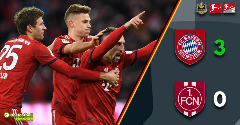 Bayern stroll past Nürnberg in the Bavarian Derby