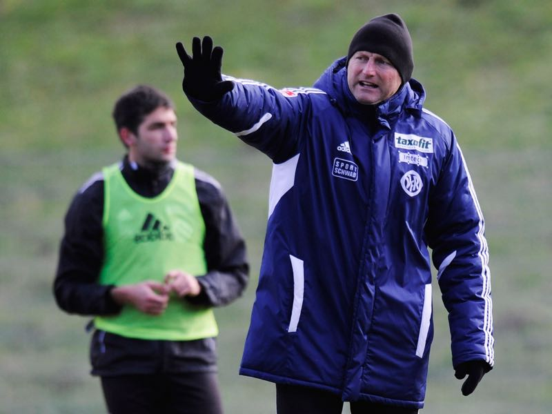 Coach Ralph Hasenhüttl reacts during the training session of VfR Aalen on January 31, 2013 in Aalen, Germany. (Photo by Daniel Kopatsch/Bongarts/Getty Images)
