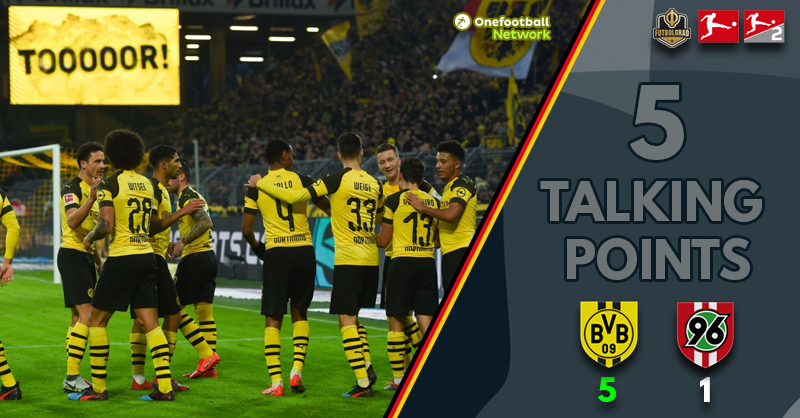 Dominant Dortmund not quite at their best – Five Thoughts from BVB against Hannover