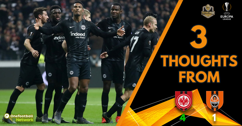 Eintracht's festival fuelled by Plan B, Shakhtar crash out of Europe