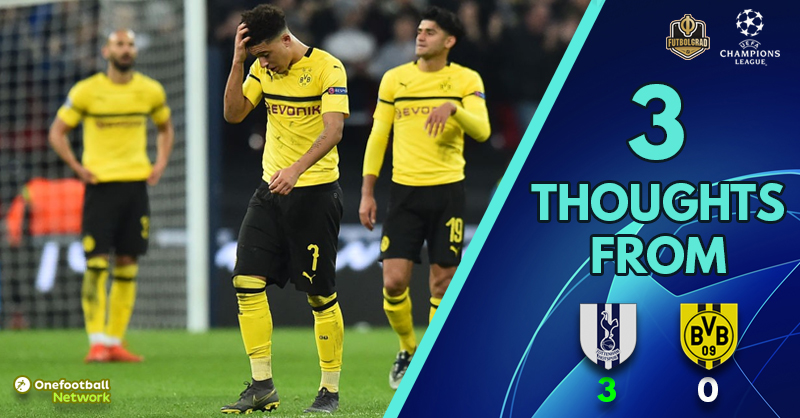 'Favre outfoxed' and 'worrying signs' – Three Thoughts from Tottenham vs Dortmund