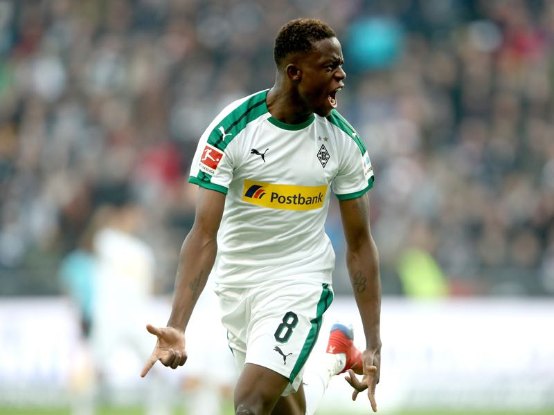 Frankfurt v Gladbach - Denis Zakaria of Borussia Moenchengladbach celebrates his goal during the Bundesliga match between Eintracht Frankfurt and Borussia Moenchengladbach at Commerzbank-Arena on February 17, 2019 in Frankfurt am Main, Germany. (Photo by Alex Grimm/Bongarts/Getty Images)