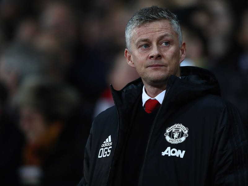 Ole Gunnar Solskjaer the manager of Manchester United during the UEFA Champions League Round of 16 First Leg match between Manchester United and Paris Saint-Germain at Old Trafford on February 12, 2019 in Manchester, England. (Photo by Michael Steele/Getty Images)