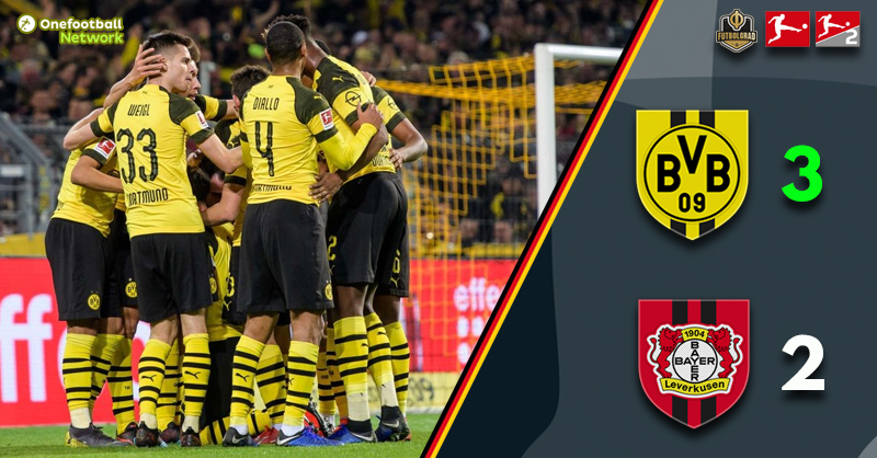 Dortmund survive a late Leverkusen scare to increase their lead at the top of the Bundesliga