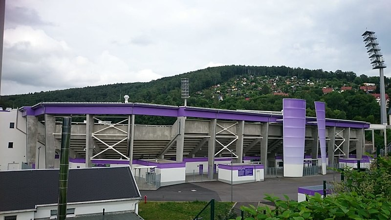 Erzgebirge Aue vs Dresden will take place at the Erzgebirgstadion in Aue (MAyo CC-BY-SA-4.0)