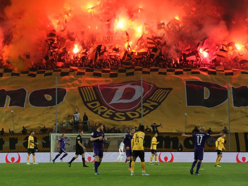 Dynamo Dresden vs Union Berlin will take place at the Rudolf-Harbig-Stadion (Photo by Matthias Kern/Bongarts/Getty Images)