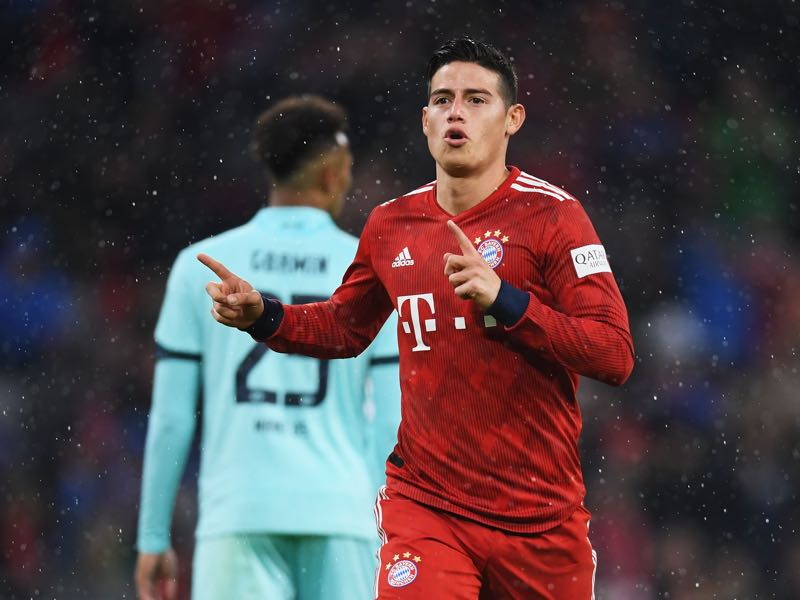 Bayern v Mainz - James Rodriguez was the man of the match (Photo by Christian Kaspar-Bartke/Bongarts/Getty Images)