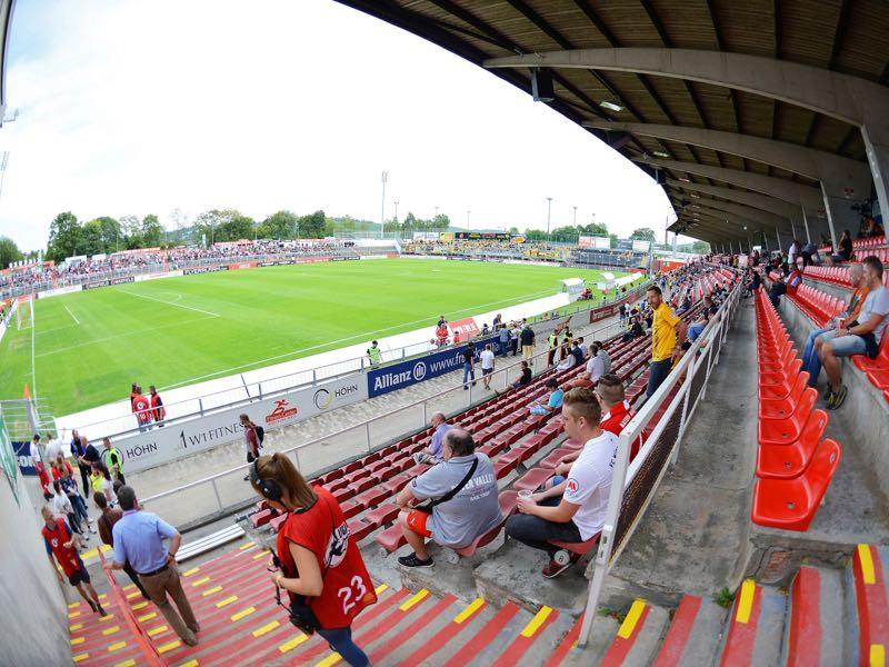 Würzburg vs 1860 Munich will take place at the Flyeralarm Arena in Würzburg (Photo by Micha Will/Bongarts/Getty Images)