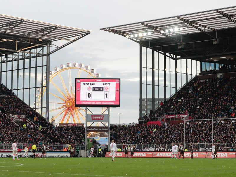 St Pauli vs Hamburg will take place at the Millerntor Stadion in Hamburg (Photo by Oliver Hardt/Bongarts/Getty Images)
