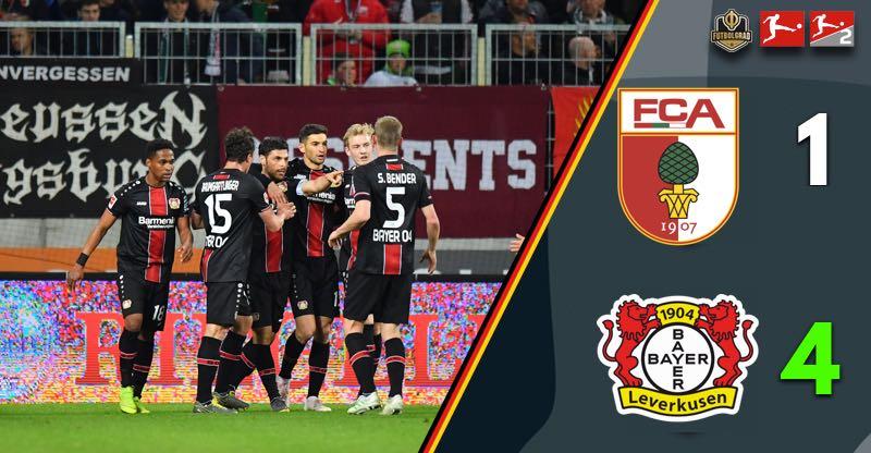 Bayer Leverkusen overturn early deficit to smash Augsburg