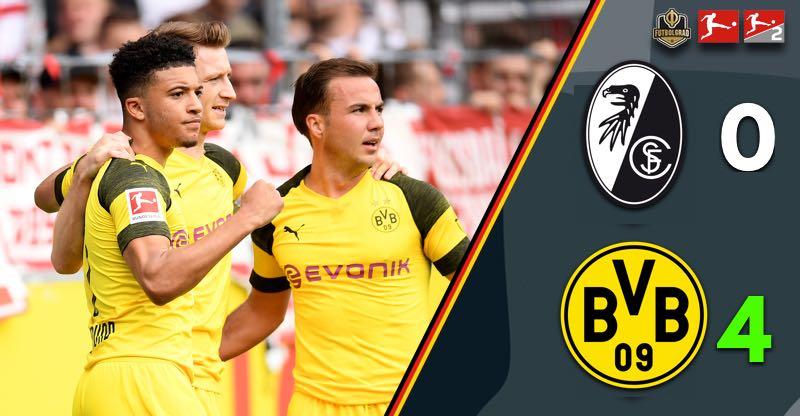 Borussia Dortmund respond well to pressure and smash Freiburg