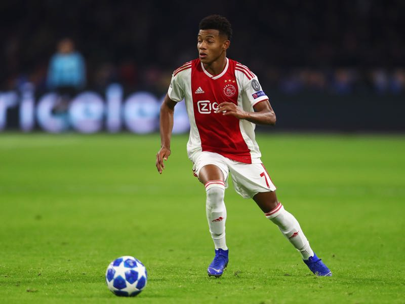 David Neres of Ajax in action during the UEFA Champions League Group E match between Ajax and FC Bayern Munich at Johan Cruyff Arena on December 12, 2018 in Amsterdam, Netherlands. (Photo by Dean Mouhtaropoulos/Getty Images)