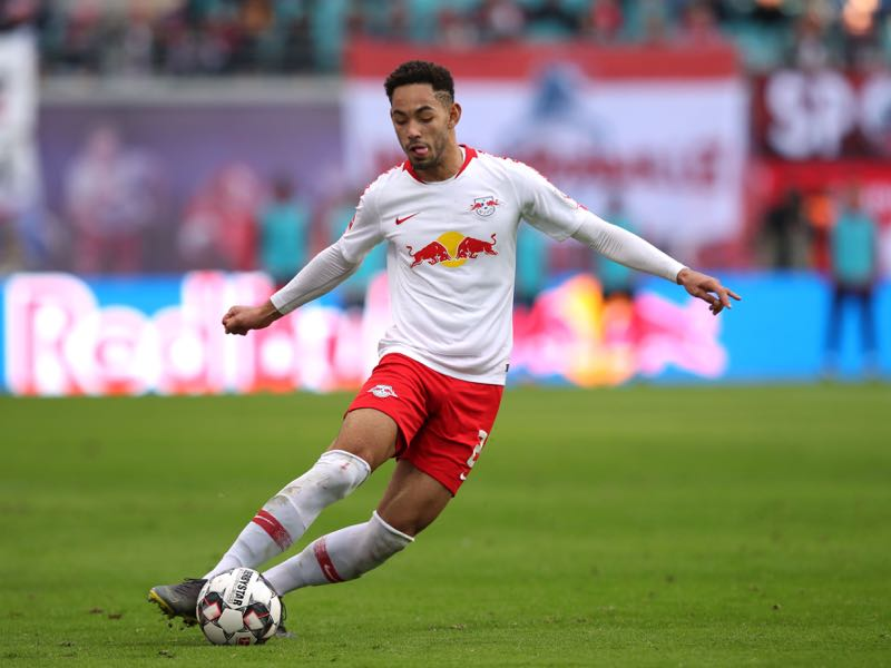 Leipzig's Brazilian forward Matheus Cunha controls the ball during the German first division Bundesliga football match RB Leipzig vs Augsburg on March 9, 2019 in Leipzig, eastern Germany. (Photo by Ronny Hartmann / AFP)