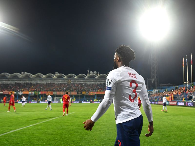Danny Rose of England looks on during the 2020 UEFA European Championships group A qualifying match between Montenegro and England at Podgorica City Stadium on March 25, 2019 in Podgorica, Montenegro. (Photo by Michael Regan/Getty Images)