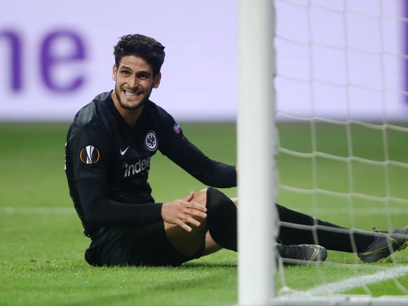 Eintracht Frankfurt v Chelsea - Goncalo Paciencia of Eintracht Frankfurt reacts during the UEFA Europa League Semi Final First Leg match between Eintracht Frankfurt and Chelsea at Commerzbank-Arena on May 02, 2019 in Frankfurt am Main, Germany. (Photo by Alex Grimm/Bongarts/Getty Images,)