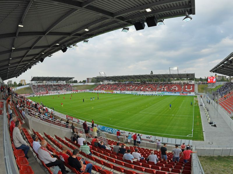 Zwickau vs 1860 Munich will take place at the Stadion Zwickau (Photo by Thomas Starke/Bongarts/Getty Images)