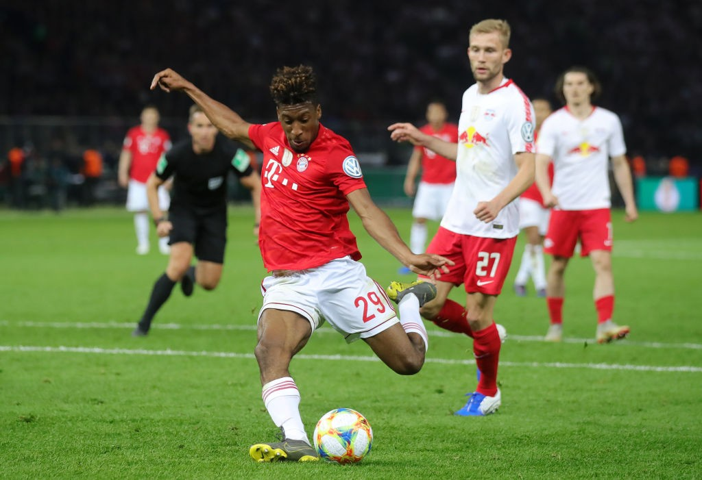Leipzig v Bayern München - Kingsley Coman scores Bayern's second goal during the DFB Pokal Finale: RB Leipzig vs Bayern München at Olympiastadion on May 25, 2019 in Berlin, Germany. (Photo: Hassenstein/Bongarts/Getty Images)