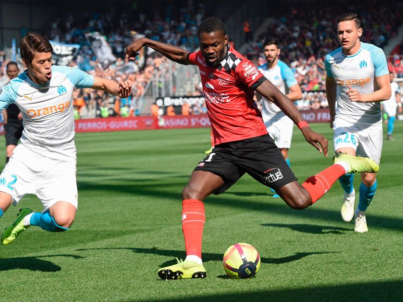 Marcus Thuram in action (Photo by Sebastien SALOM-GOMIS / AFP)
