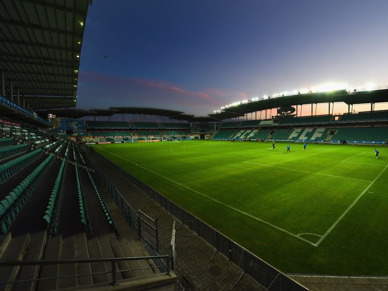 Flora Tallinn vs Eintracht Frankfurt will take place at the A. Le Coq Arena in Tallinn (Photo by Shaun Botterill/Getty Images)