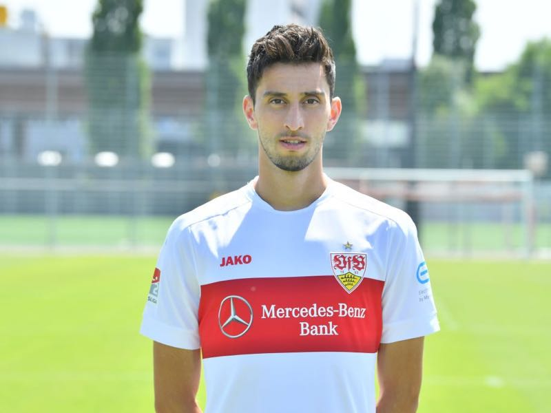 Atakan Karazor of VfB Stuttgart poses during the team presentation at VfB Clubzentrum on July 03, 2019 in Stuttgart, Germany. (Photo by Sebastian Widmann/Bongarts/Getty Images)