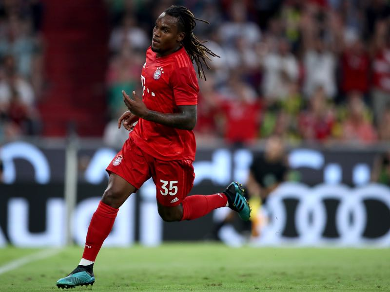 Renato Sanches of FC Bayern Muenchen celebrates after scoring his team's first goal during the Audi cup 2019 semi final match between FC Bayern Muenchen and Fenerbahce at Allianz Arena on July 30, 2019 in Munich, Germany. (Photo by Christian Kaspar-Bartke/Getty Images for AUDI)