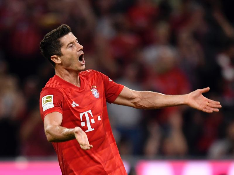 Bayern v Hertha - Robert Lewandowski scored twice backing up his critical words from the offseason. (Photo by Daniel Kopatsch/Bongarts/Getty Images)