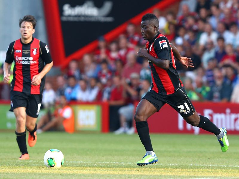 Mohamed Coulibaly of AFC Bournemouth controls the ball during a pre season friendly match between AFC Bournemouth and Real Madrid at Goldsands Stadium on July 21, 2013 in Bournemouth, England. (Photo by Jan Kruger/Getty Images)