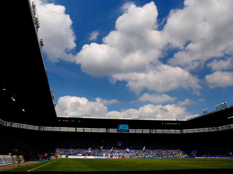Magdeburg vs 1860 Munich will take place at the MDCC Arena in Magdeburg (Photo by Ronny Hartmann/Bongarts/Getty Images)