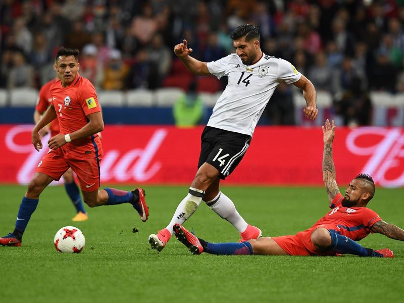 Emre Can played the key pass ahead of Germany's tying goal. (FRANCK FIFE/AFP/Getty Images)