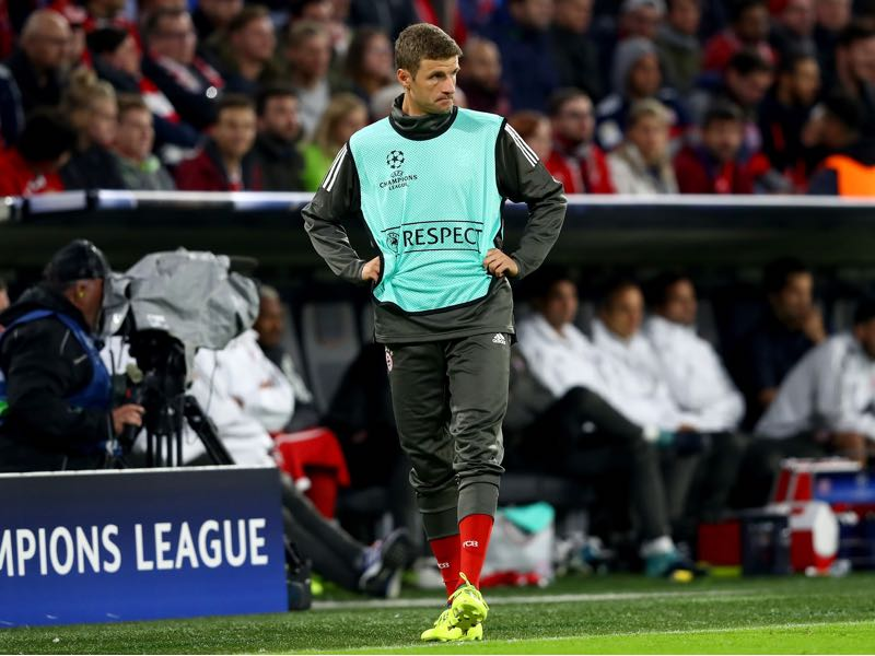 Thomas Müller has lost his form under Carlo Ancelotti. (Photo by Alexander Hassenstein/Bongarts/Getty Images)