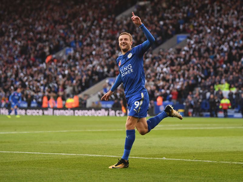 Jamie Vardy is Leicester's biggest star and will be an important player for the Three Lions on Friday. (Photo by Shaun Botterill/Getty Images)