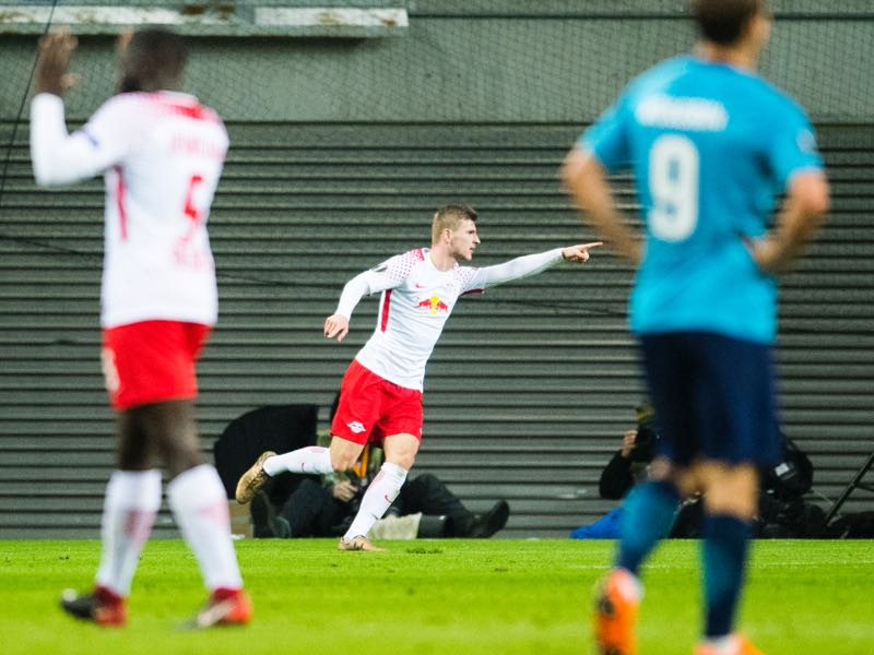 Leipzig vs Zenit - Timo Werner scored a goal and an assist to win the player of the match award. (ROBERT MICHAEL/AFP/Getty Images)