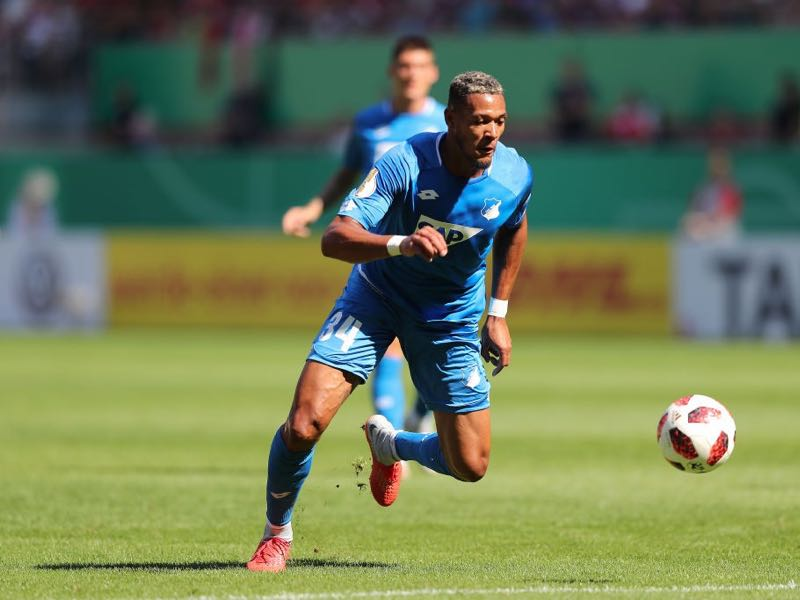 Joelinton of Hoffenheim in action during the first round DFB Cup match between 1. FC Kaiserslautern and TSG 1899 Hoffenheim at Fritz-Walter-Stadion on August 18, 2018 in Kaiserslautern, Germany. (Photo by Christian Kaspar-Bartke/Bongarts/Getty Images)