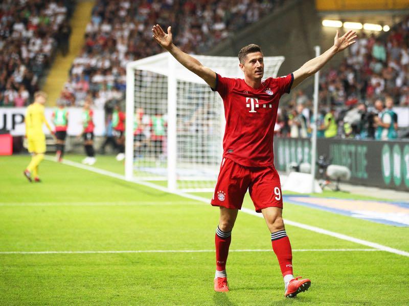 Frankfurt v Bayern - Robert Lewandowski was the man of the match (Photo by Adam Pretty/Bongarts/Getty Images)
